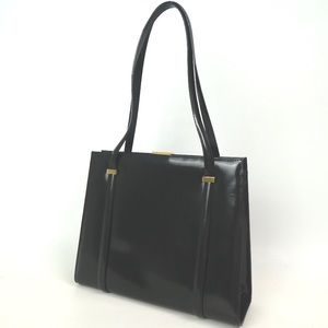 SOLD Vintage GUCCI Shoulder Black Leather Bag FIRM